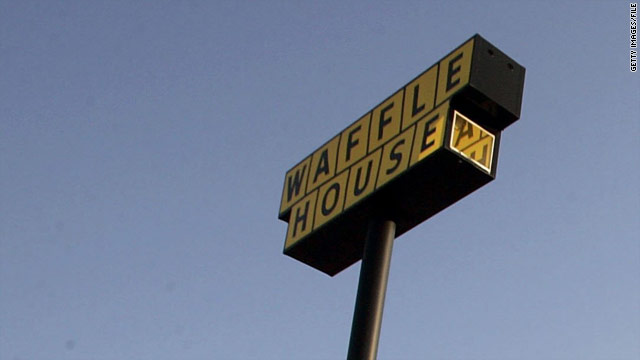 Man makes home on Waffle House roof