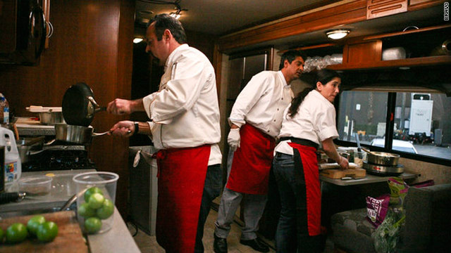 Cramped quarters on 'Top Chef: Masters'