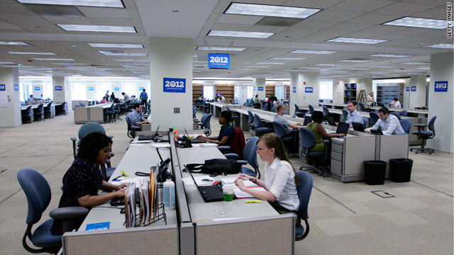 Obama 2012 opens HQ to cameras