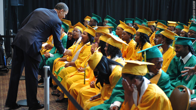 President visits Memphis high school graduation