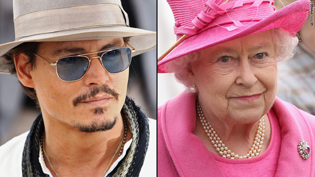 Johnny Depp and Queen Elizabeth are cousins?