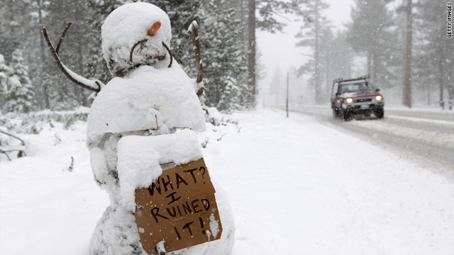 Rare May snowstorm sets back California cycling race
