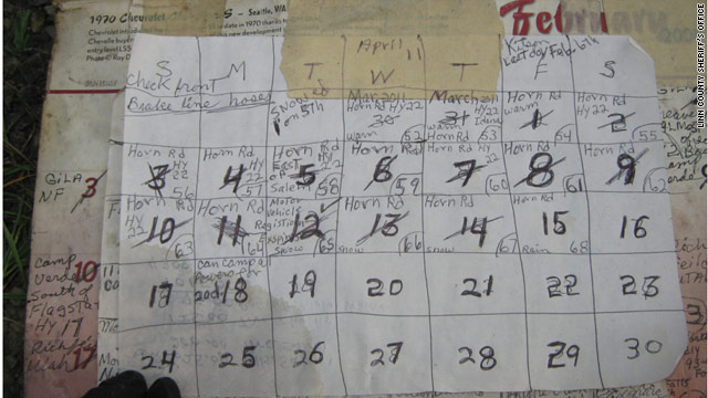 Stranded man documented last days on calendar, police say