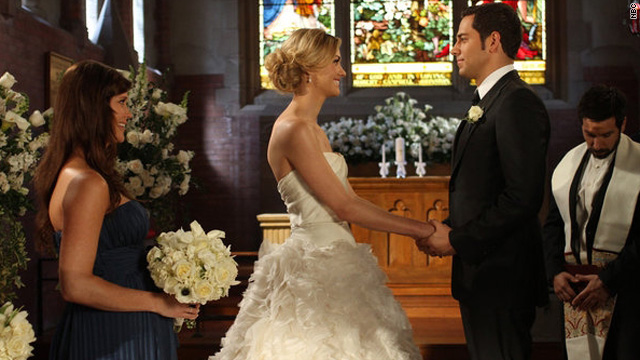 'Chuck's' version of a fairy tale wedding