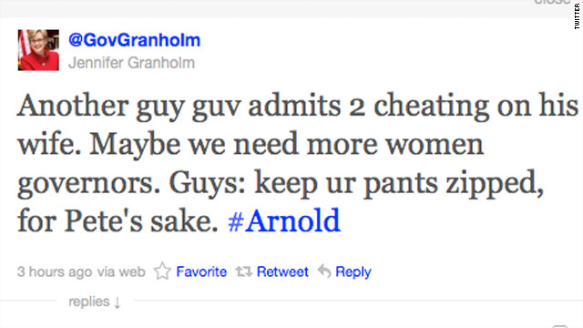 Tweet of the Day: Granholm weighs in on Arnold