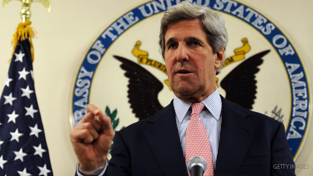 Kerry in talks with White House over Libya resolution