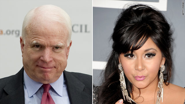 McCain invokes 'Snooki' tweet, warns of Twitter's dangers