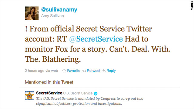 Secret Service apologizes for Twitter gaffe