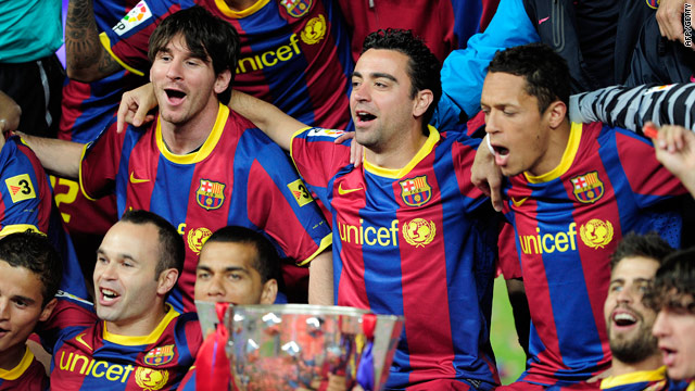 Barcelona's stars lived up to their pre-season billing by claiming a third straight Spanish title.