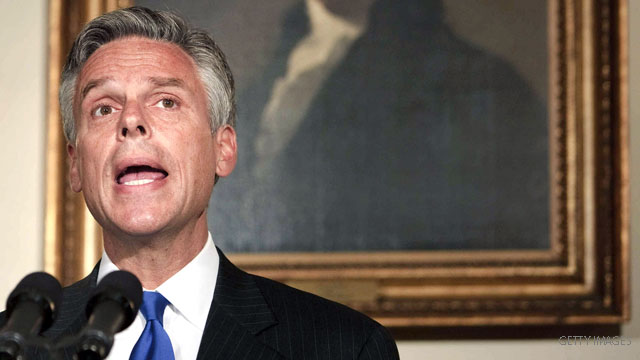 Huntsman lunch with Bush in campaign spotlight