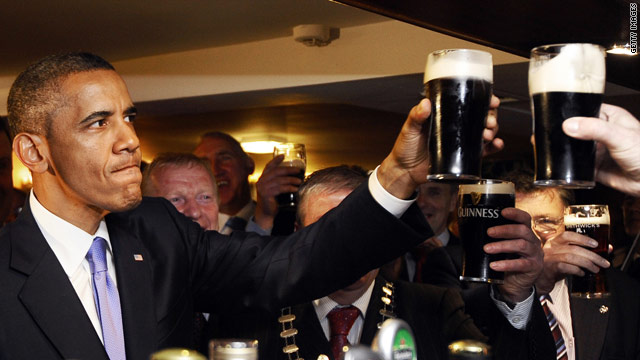 Because what else would he drink in Ireland?