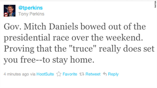 Tweet of the Day: Perkins mocks Mitch Daniels