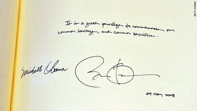 Oops: Obama signs wrong year at Westminster Abbey?