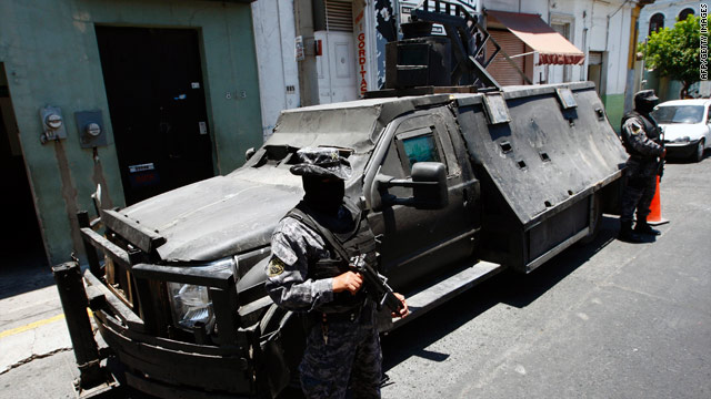 Police find Mexican traffickers' 'narcotank'
