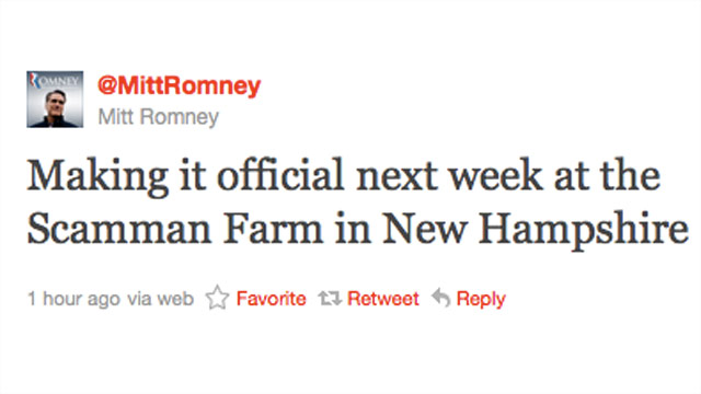 Romney to announce candidacy for president in New Hampshire