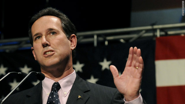 Santorum to announce candidacy first Monday in June