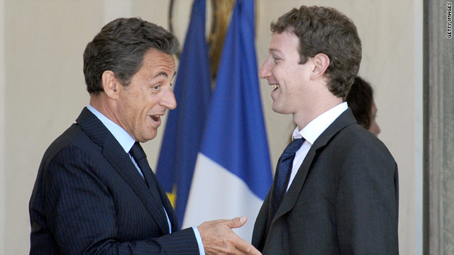 Zuckerberg friends Merkel, Sarkozy at G8