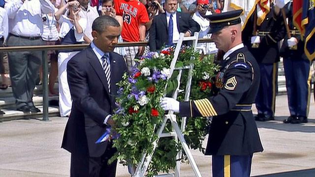Obama leads country in marking Memorial Day