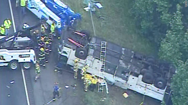Four killed in Virginia tour bus crash