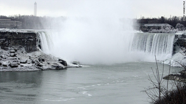 Woman swept to death over Niagara Falls