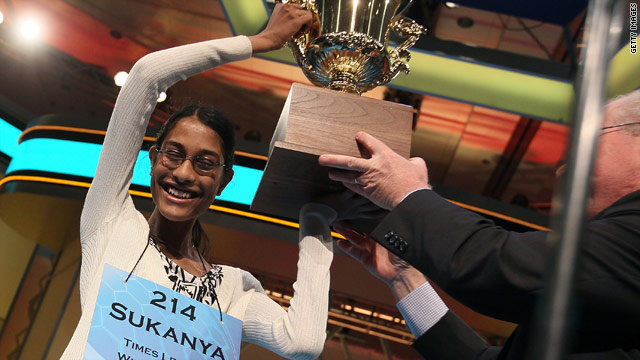 Eighth-grader wins spelling bee with 'cymotrichous'