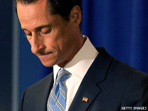 Rep. Weiner admitted sending a lewd Twitter photo of himself to a woman and lying about it.