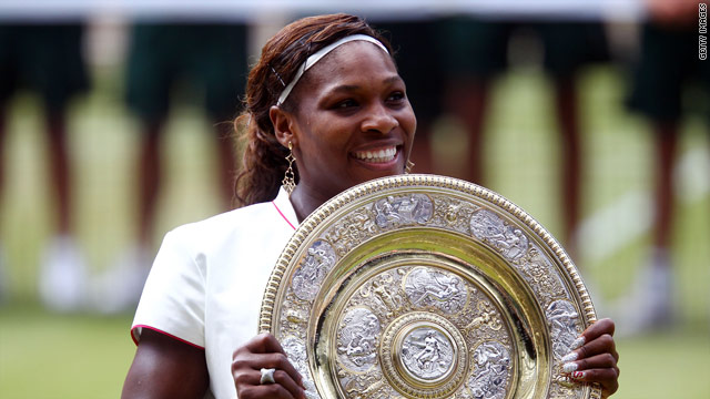 Serena Williams proudly shows off her fourth Wimbledon crown but can she win a fifth?
