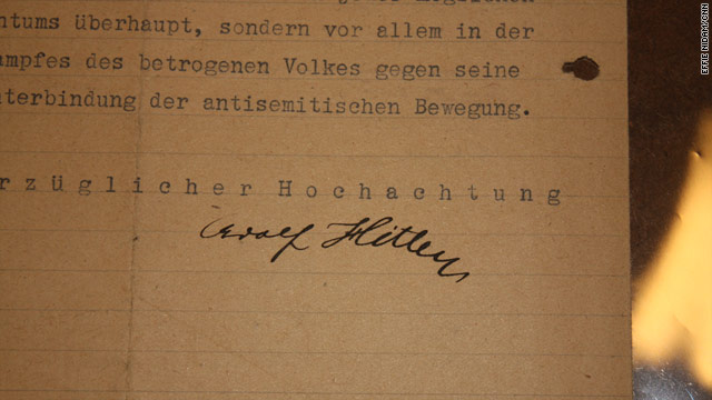 1919 signed letter contains Hitler's first known stance on Jewish 'removal'