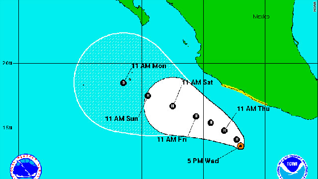 Adrian becomes hurricane in Pacific
