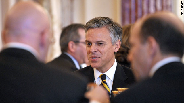 Huntsman dines out with GOP senators