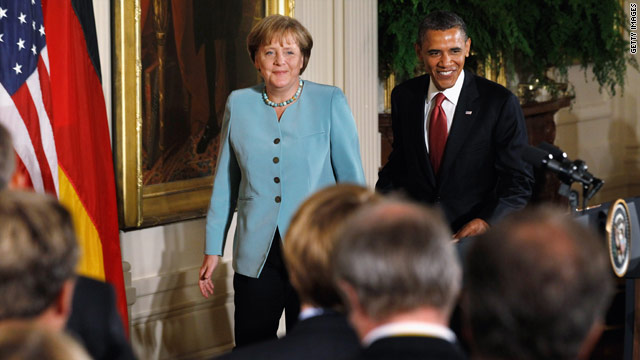 Photo Gallery: President Obama welcomes German Chancellor Angela Merkel to White House
