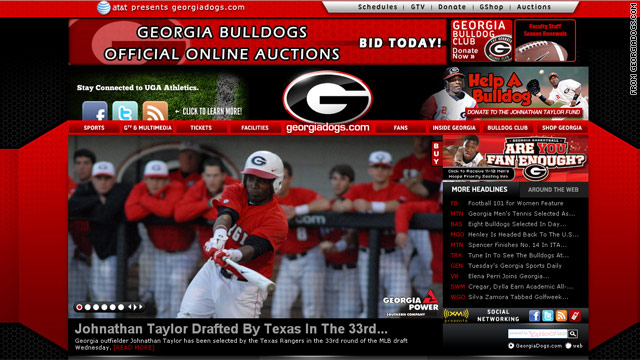 Paralyzed Georgia outfielder drafted by Rangers