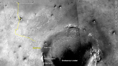Are we there yet? Mars rover nears crater