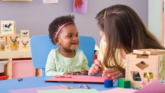 Child care helps depressed moms' kids