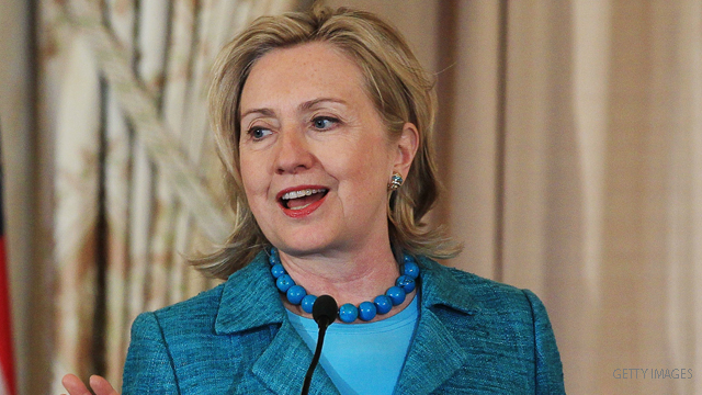 Clinton says women need to 'step up' to political roles