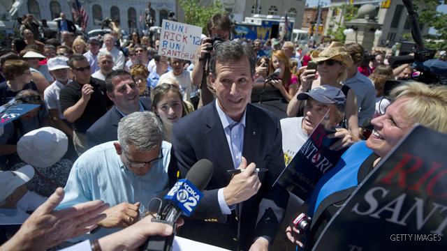 Santorum hits the airwaves