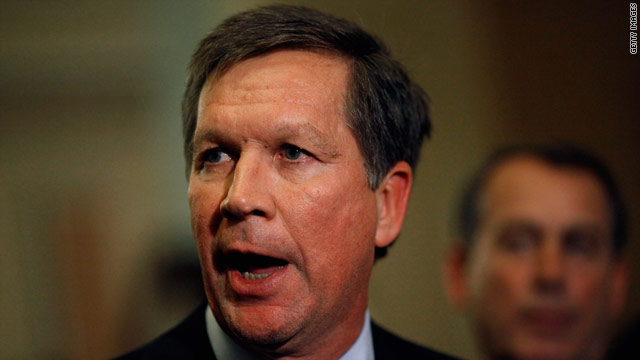 Ohio governor's numbers on the rise