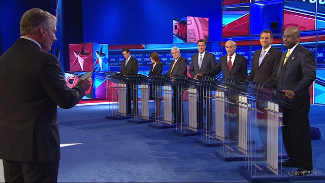 GOP presidential contenders take aim at Obama in CNN debate