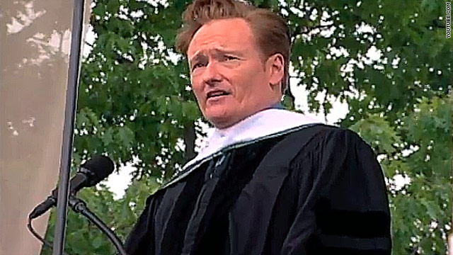 Conan delivers laughs at Dartmouth graduation