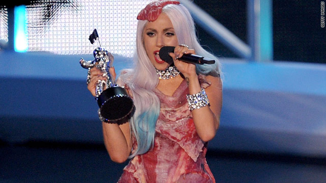 Gaga's meat dress headed for Hall of Fame