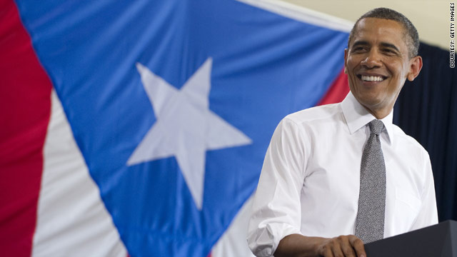 Obama touches down in Puerto Rico