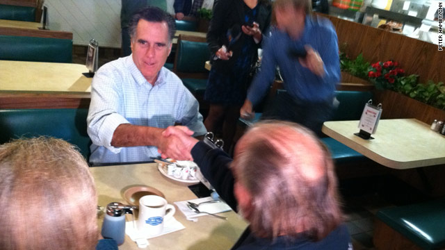 Mitt Romney the next morning: breakfast at Blake's