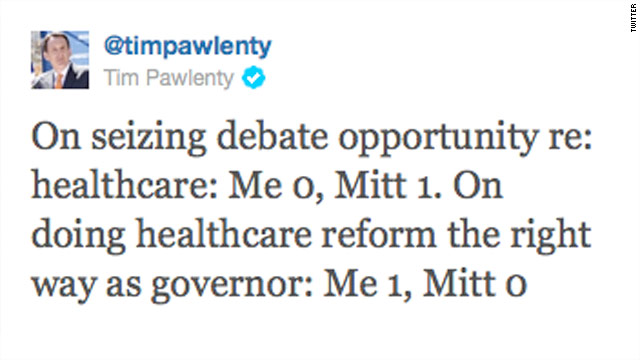 Tweet of the Day: Pawlenty finally fires back