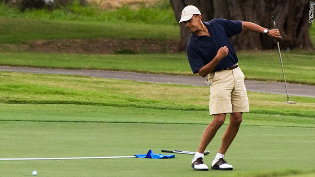 Spitzer: IMF lowers U.S. economic forecast; maybe a game of golf will make the difference