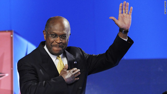 Cain uses speech to tout rise of his candidacy