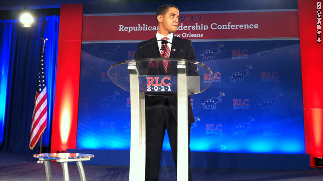 Bizarre episode steals spotlight at major GOP conference