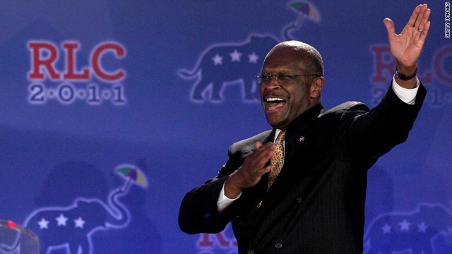 Cain warmly embraced at conservative forum despite low poll numbers