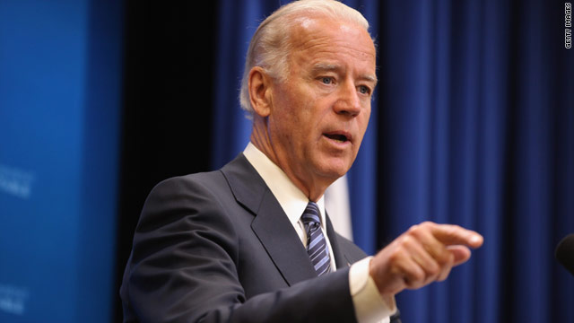 Biden hits Romney in primary night address