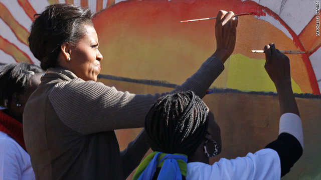 Michelle Obama talks Mandela, husband's campaign, daughters' privacy