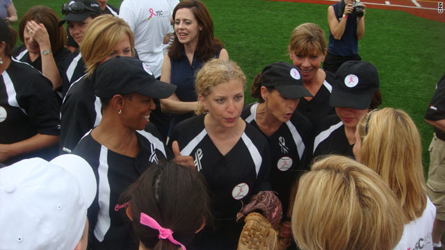 Congressional women battle the press on a softball field